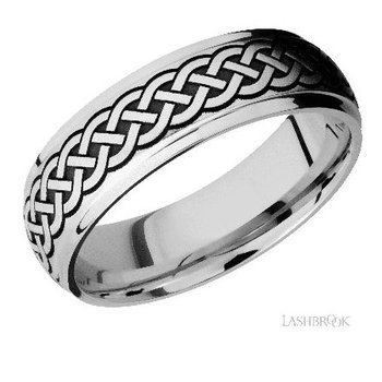 Cobalt Chrome Celtic Pattern Band