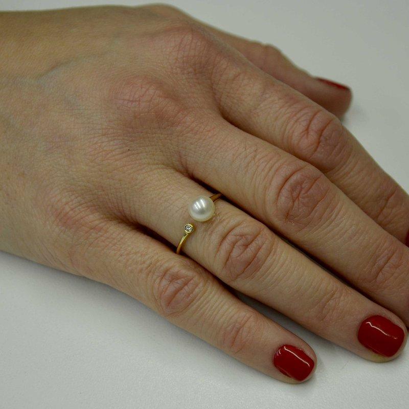 Imperial Pearl Pearl & Diamond Ring