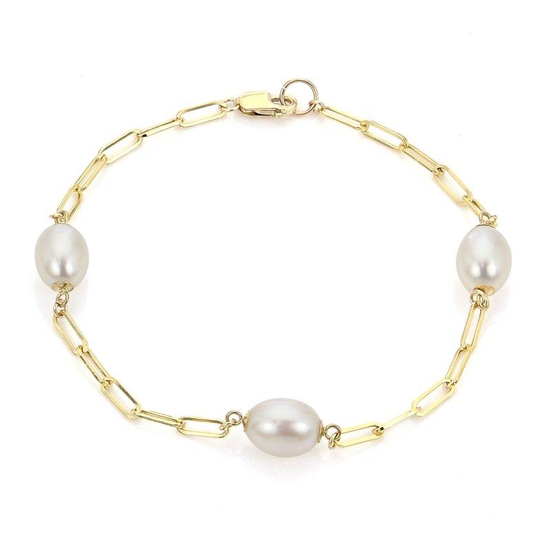 Imperial Pearl Paperclip Pearl Bracelet