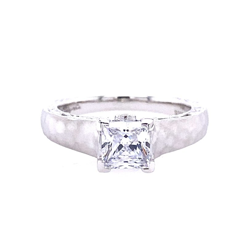 Gabriel & Co. -  IN-STORE COLLECTION 14K White Gold Hammered Engagement Ring