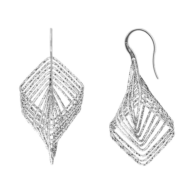 B&C Collections Ten Layer D/C Square Dangles