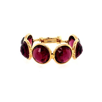 Rhodolite Garnet Adjustable Ring