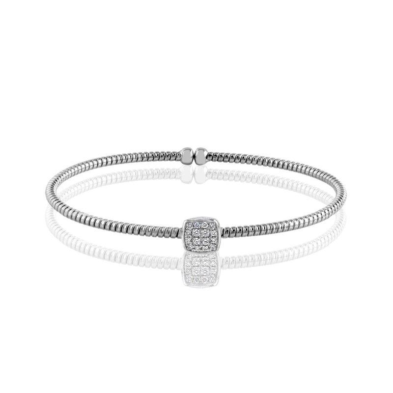 Simon G IN-STORE COLLECTION White Gold Diamond Cuff Bracelet