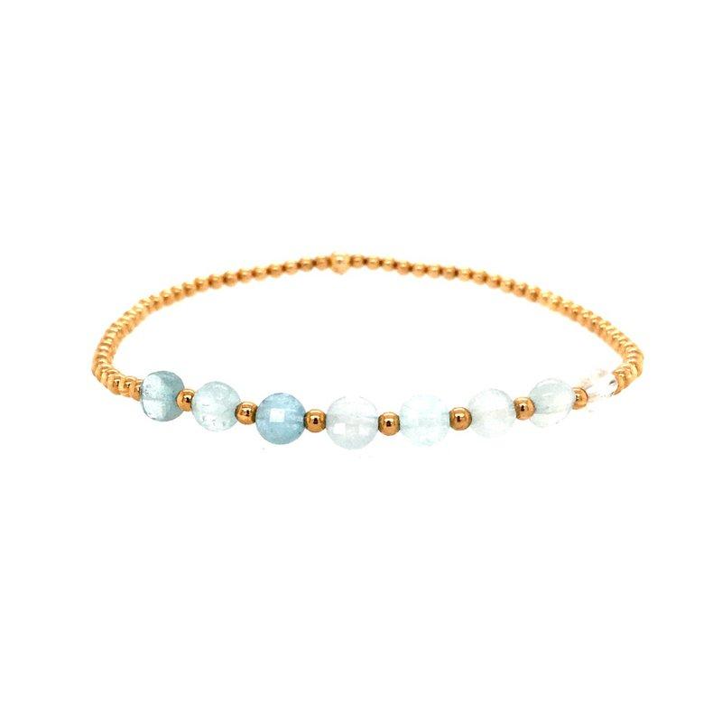Karen Lazar Aquamarine Disc Bead Bracelet