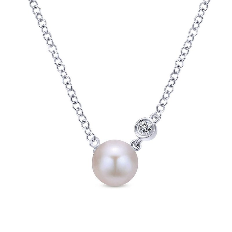 Gabriel & Co. -  IN-STORE COLLECTION Pearl & Diamond Necklace