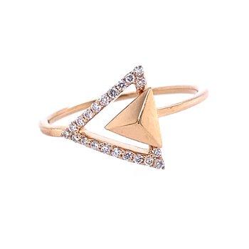 Diamond Geometry Ring