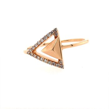 Diamond Geometry Ring