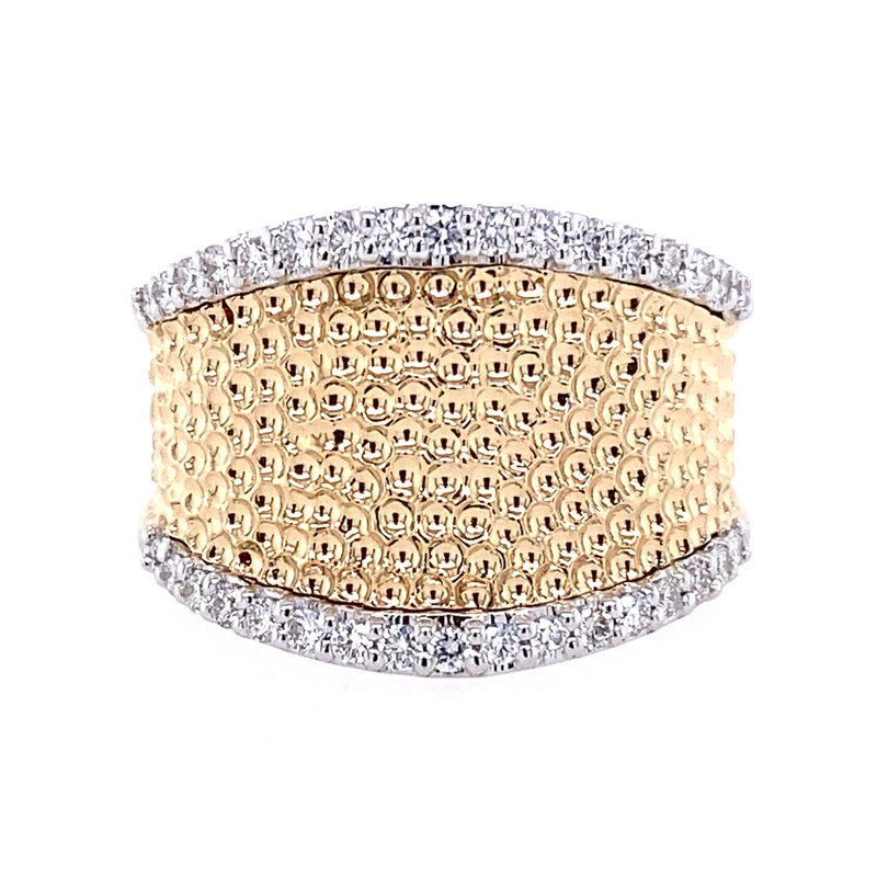 B&C Collections Yellow and Gold Diamond Ring