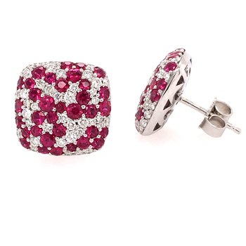 Diamond and Ruby Studs