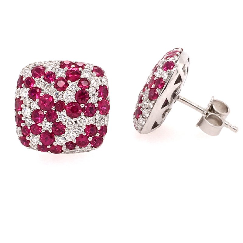 Fana Diamond and Ruby Studs