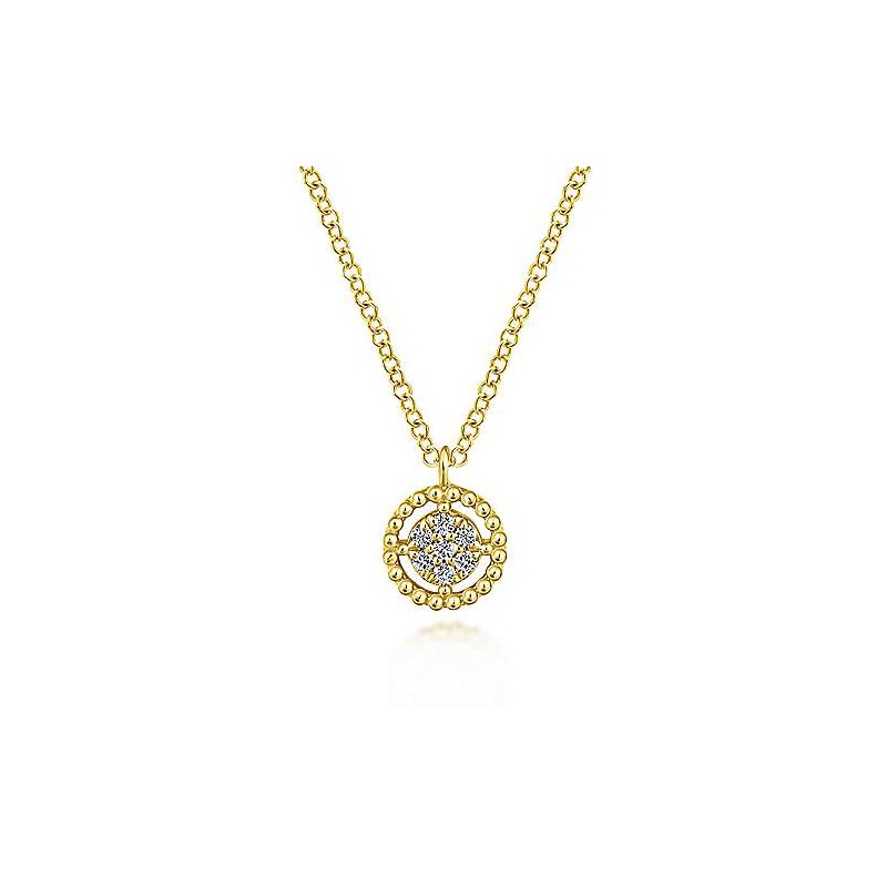 Gabriel & Co. -  IN-STORE COLLECTION Floating Diamond Pendant