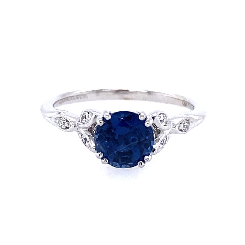 Gabriel & Co. -  IN-STORE COLLECTION Sapphire and Diamond Leaf Ring