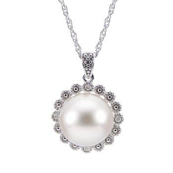 Button Pearl Halo Pendant
