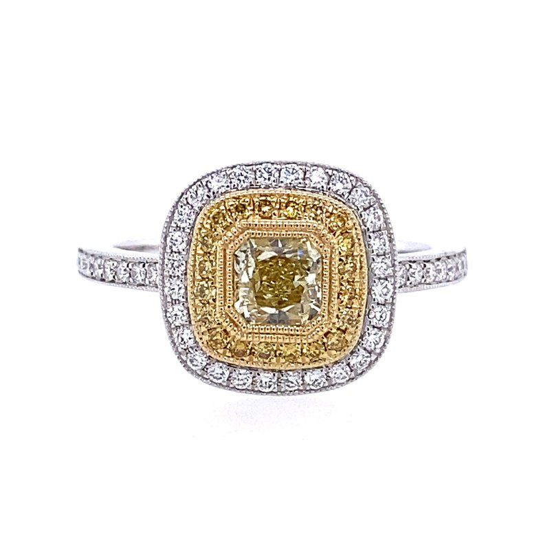 B&C Collections Fancy Yellow Diamond Engagement Ring