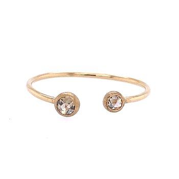 Double Diamond Champagne Ring