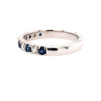 Sapphire and Diamond Band