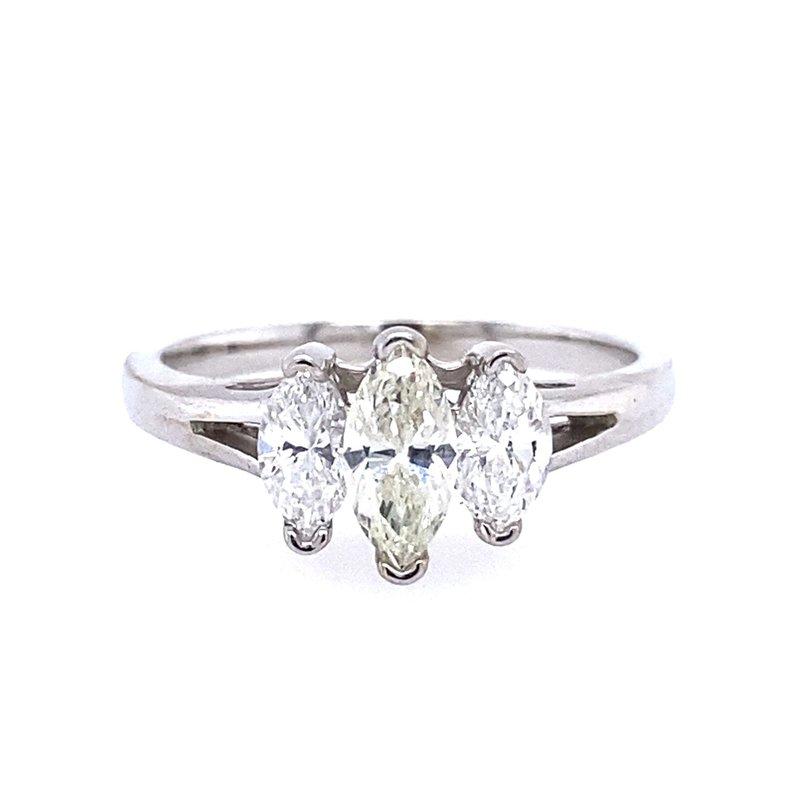 B&C Creations Marquise Three Stone Engagement Ring