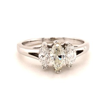 Marquise Three Stone Engagement Ring