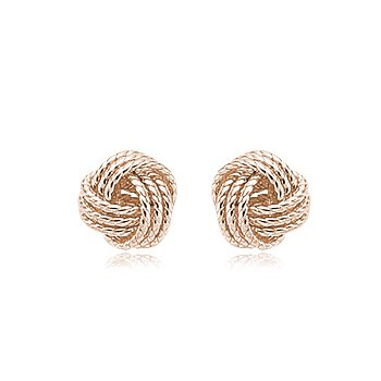 Rose Love Knot Studs