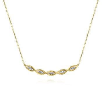Diamond Twist Bar Necklace