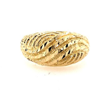 Retro Gold Dome Ring
