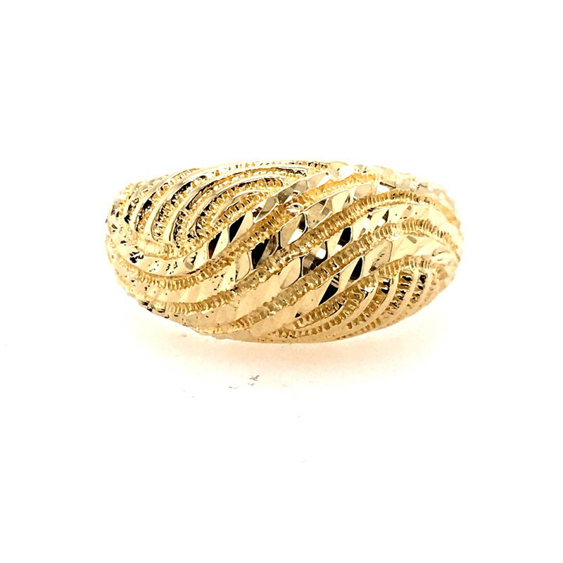 B&C Estate Collection Retro Gold Dome Ring