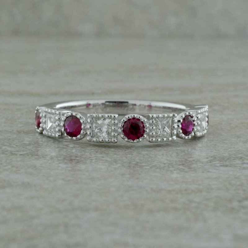 B&C Collections Ruby and Diamond Ring