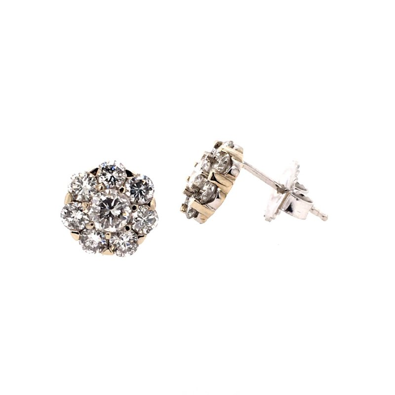 B&C Creations Diamond Cluster Earrings