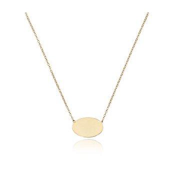 Oval Engraveble Necklace