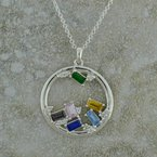 Uniquely Yours . . .  Mothers Gemstone Necklace