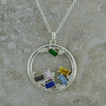 Mothers Gemstone Necklace