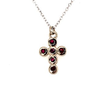 Ruby Cross Pendant