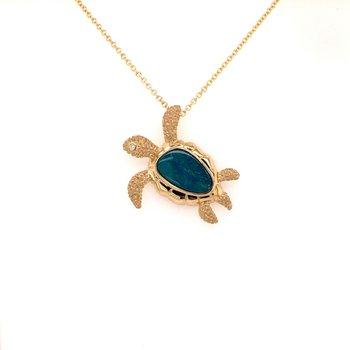 Opal Sea Turtle Pendant