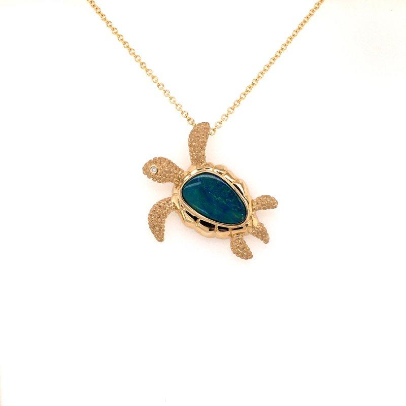 Parlé Opal Sea Turtle Pendant