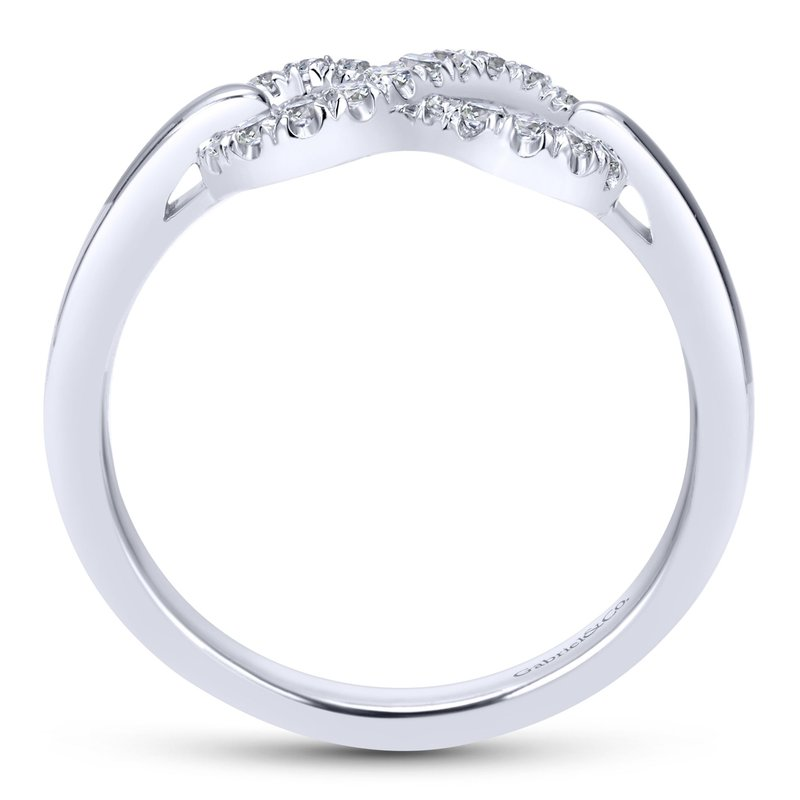 Gabriel & Co. -  IN-STORE COLLECTION White Sapphire Infinity Ring