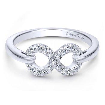 White Sapphire Infinity Ring