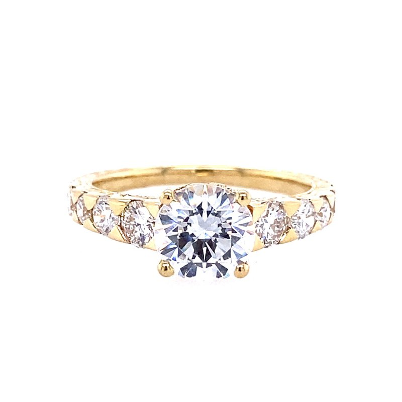 B&C Collections Yellow Gold and diamond Engagement Ring