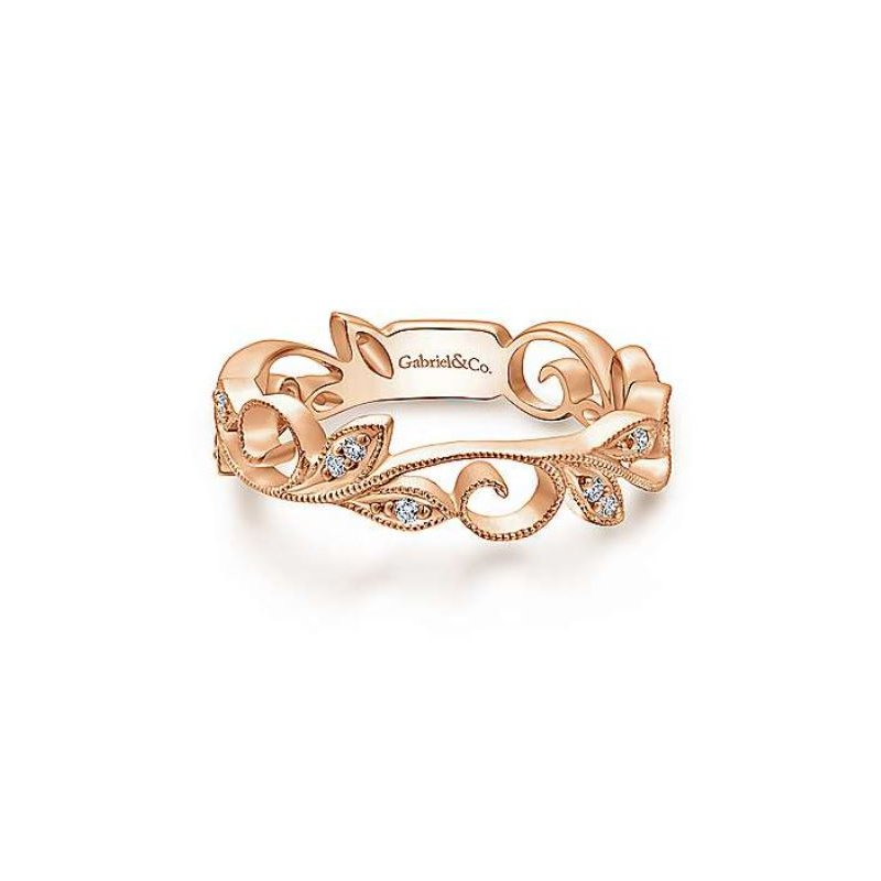 Gabriel & Co. -  IN-STORE COLLECTION Rose Gold & Diamond Ring