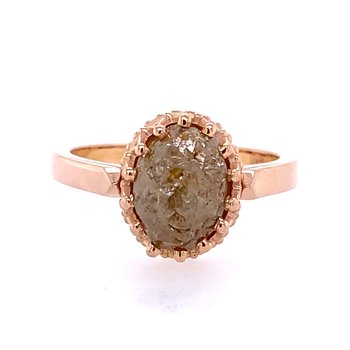 Champagne Colored Diamond Crystal Engagement Ring