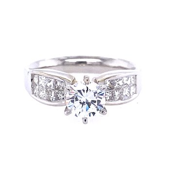 Invisible Set Engagement Ring