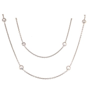 Fifteen Station CZ Necklace