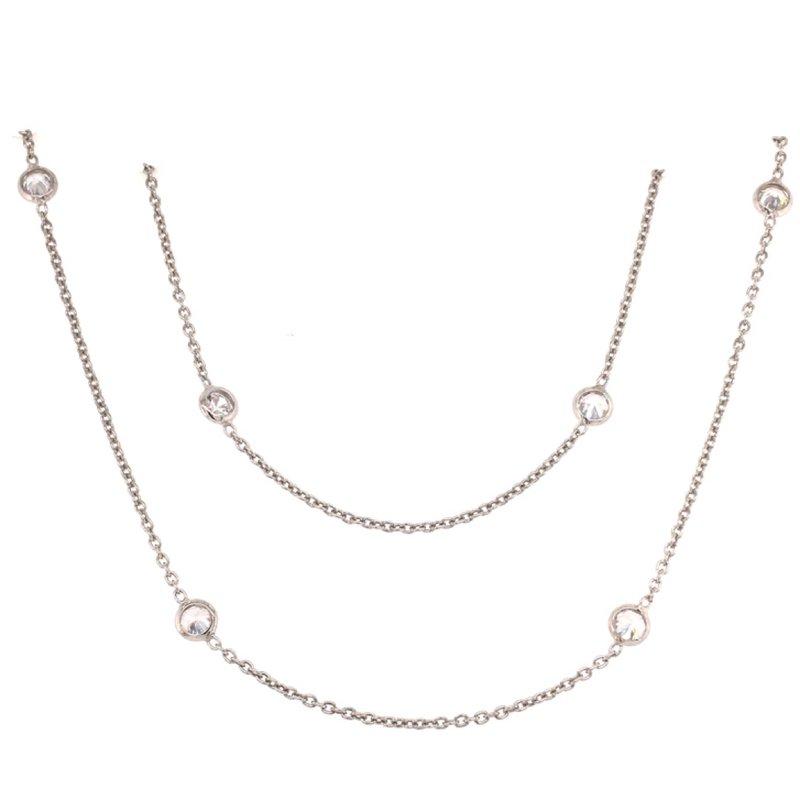 B&C Collections Fifteen Station CZ Necklace