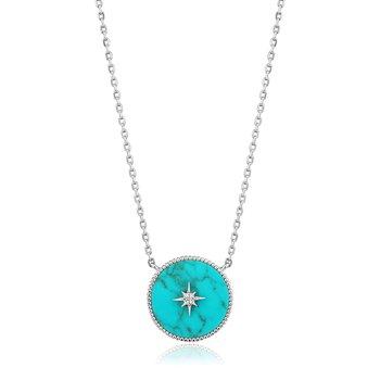 Turquoise Emblem Necklace