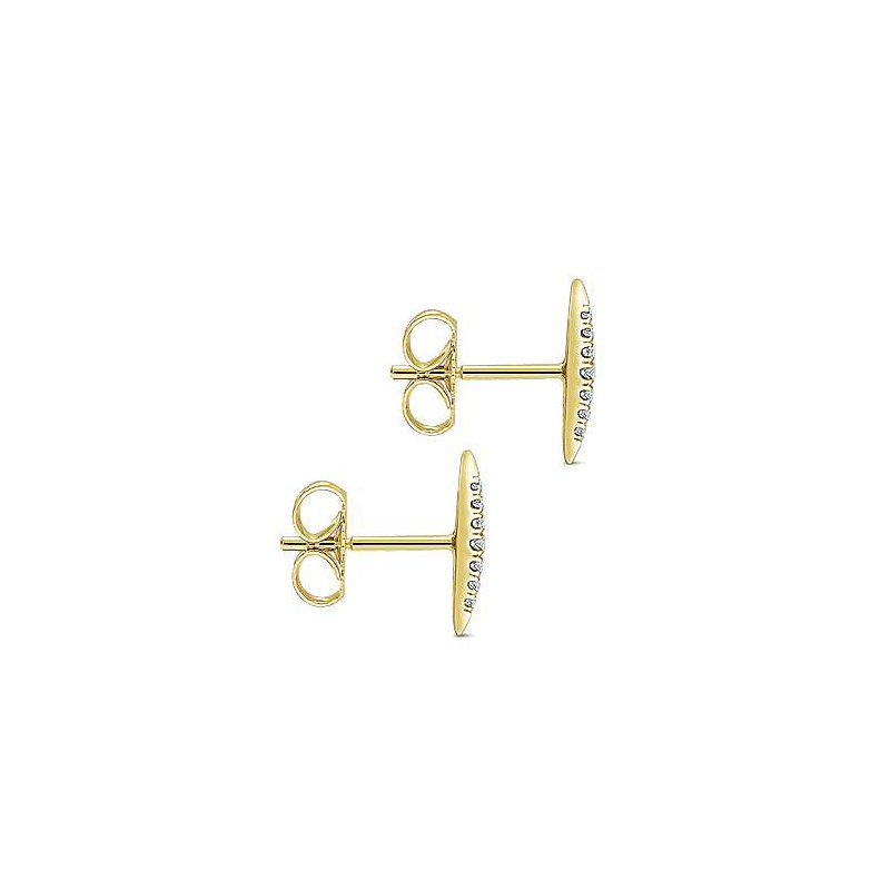 Gabriel & Co. -  IN-STORE COLLECTION Pave Diamond Spiked Studs