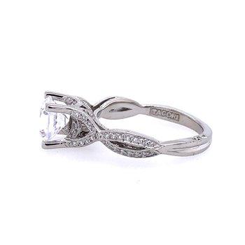 Twisted Diamond Engagement Ring