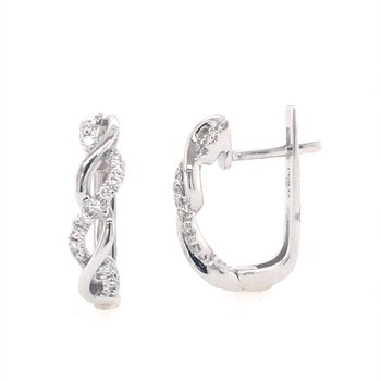 Diamond Twist Hoops