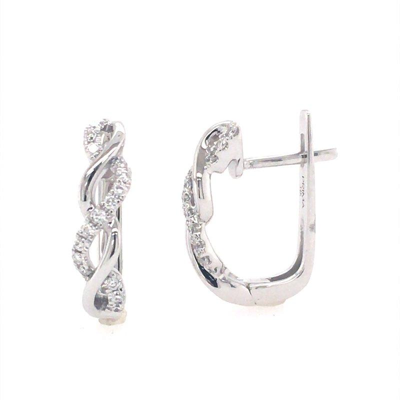 B&C Collections Diamond Twist Hoops