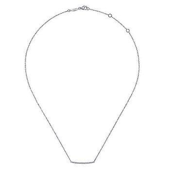 Pave Diamond Bar Necklace