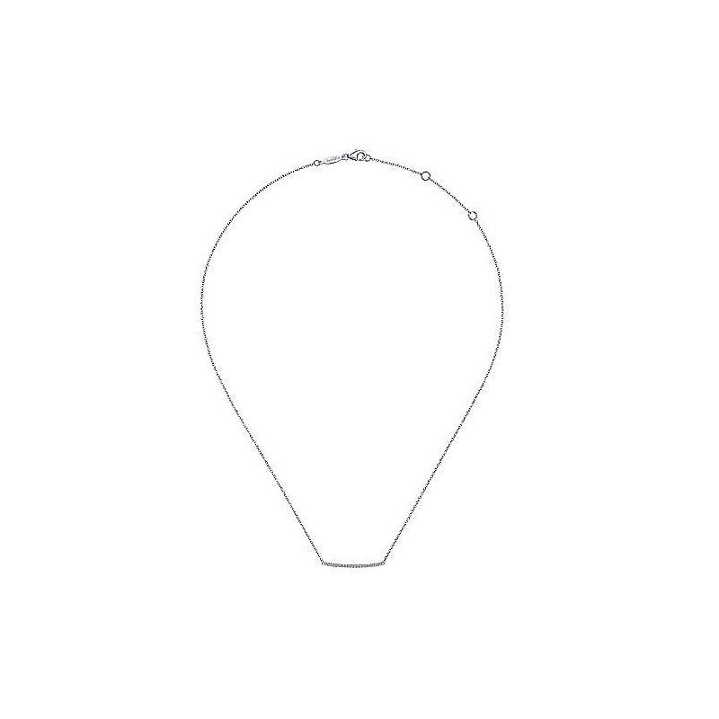 Gabriel & Co. -  IN-STORE COLLECTION Pave Diamond Bar Necklace