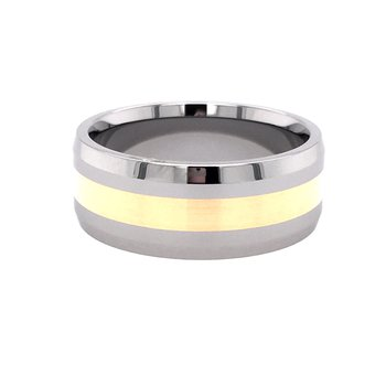 Tungsten and Gold Band